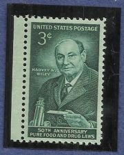 Buy Scott 1080 Pure Food & Drug Act, Harvey Wiley 3 cent unused US stamp MNH mint
