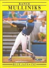 Buy 1991 Fleer #181 Rance Mulliniks