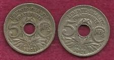 Buy SPECIAL: Two France 5 Centimes 1921 French Coins - TWO COINS !!!