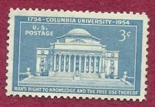 Buy US 3 Cent 1954 Stamp Columbia University MNH Scott #1029 - over 50 years old!