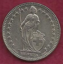 Buy SWITZERLAND 2 FRANCS 2001 COIN - Standing Helvetia with lance and shield