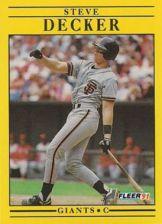 Buy 1991 Fleer #260 Steve Decker