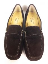 Buy Ann Klein Shoes 6 Womens Brown Leather Loafers