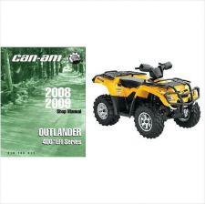 Buy 08-09 Can-Am Outlander 400 EFI / Max / XT ATV Service Repair Shop Manual CD