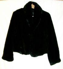 Buy EUC women's sz. S, MOSSIMO, black, faux fur coat