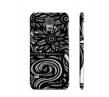 Buy Scipioni Black White Flowers Samsung Galaxy S5 Phone Case