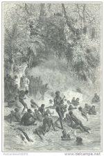 Buy ZANZIBAR (AFRICA) - HOT WATERS OF MTAGATA - engraving from 1878