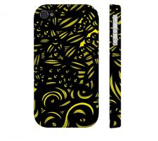 Buy Mcquerry Yellow Black Iphone 4/4S Apple Phone Case Flowers Botanical