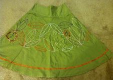 Buy Womens Green Embellish Skirt Size 26