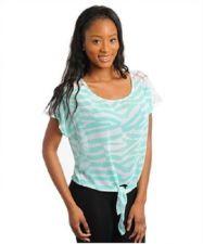 Buy Womens Fashion Casual Green and White Sheer Shirt