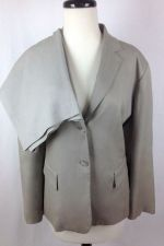 Buy Banana Republic Suit XL Womens Silk Gray Pants Jacket