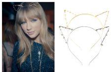 Buy Popular Celebrity Inspired Cat Kitty Ears Pearl Stone Headband Hairband Gold