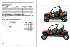 Buy 2013 Polaris Ranger RZR / RZR S / RZR 4 800 Service Repair Workshop Manual CD