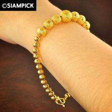 Buy Thai 22k 24k Baht Yellow Gold Plated GP Bead Bracelet Chain Bangle Jewelry B012