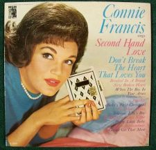 Buy CONNIE FRANCIS ~ Sings Second Hand Love 1962 Pop LP