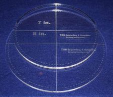 """Buy 2 Piece Circle Set - with Seam Allowance 7"""", 8"""" ~ 1/4"""" Thick - Long Arm"""