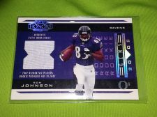 Buy NFL RON JOHNSON RAVENS 2002 PLAYOFF HONORS GAME WORN JERSEY RC /25 LOW BID!!