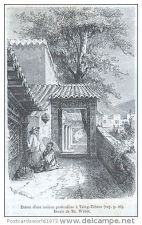 Buy CHINA - ENTRANCE OF A PRIVATE HOUSE IN TZING-TCHEOU - engraving from 1875