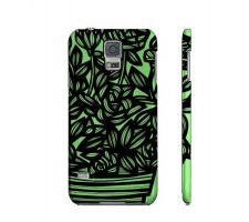 Buy Harrah Green Black Flowers Samsung Galaxy S5 Phone Case