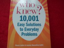 Buy Who Knew? by Bruce Lubin and Jeanne Bossolina-Lubin (2011, Hardcover)
