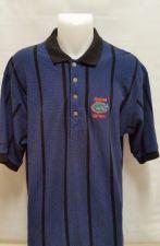 Buy Antigua Mens Florida Gators Blue Striped Golf Polo Shirt L