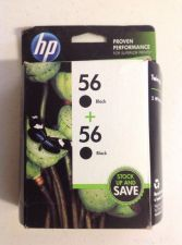 Buy 56 twin pack BLACK ink jet HP DeskJet 9680 9670 9650 5850 5650 5550 5150 printer