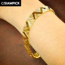 Buy Thai 22k 23k 24k Yellow Gold Baht GP Real Chain Bracelet Bangle Jewelry New B011