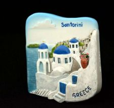 Buy 3D SCULPTURE FRIDGE MAGNET MEMORIAL SANTORINI GREECE COLLECTIBLE GIFT SOUVENIR