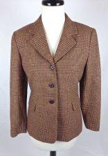 Buy Talbots Brown Wool P 4 Womens Blazer Jacket