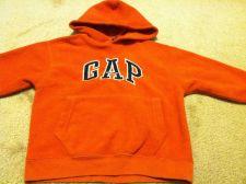 Buy Girls Gap Kids Orange & Navy Fleece PullOver Hoodie SweatShirt Size XS 4 / 5