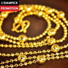 "Buy 24"" Dubai Beads 22k 24k Chain Necklace Thai Baht Yellow Gold GP Jewelry N074 GF"