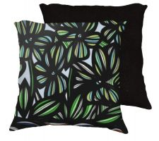 Buy Brink 18x18 Yellow Green Black White Pillow Flowers Floral Botanical Cover Cushion Ca