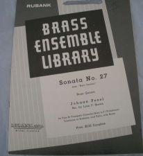 Buy Sonata No. 27 - Pezel/Brown - Brass Quintet