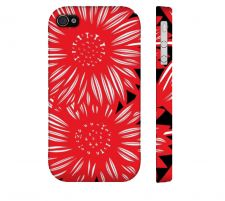 Buy Snow Red White Black Iphone 4/4S Apple Phone Case Flowers Botanical