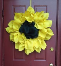 Buy All Burlap Sunflower Door Wreath 24 inches! Custom Orders Welcome!