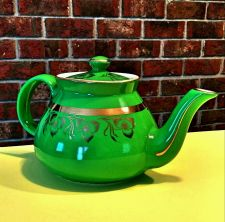 Buy HALL 032 Pottery Teapot China Green Gold Trim 6 cup Wounded Warrior Project