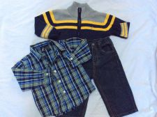 Buy Nautica Sweater Jeans Shirt Boys 3 Piece Outfit Size 12-18M