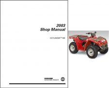 Buy 2003 Can-Am Outlander 400 ATV Service Repair Manual CD -- CanAm BRP Bombardier