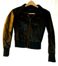 Buy EUC women's, sz., ambiance apparel, black, lined, faux leather, jacket