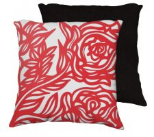 Buy Manino 18x18 Red White Pillow Flowers Floral Botanical Cover Cushion Case Throw Pillo