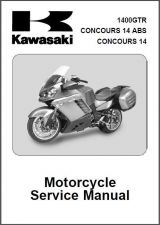Buy 07-09 Kawasaki 1400GTR Concours 14 ABS Service Repair Manual CD 1400 GTR ZG1400