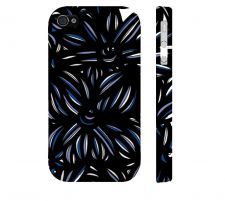 Buy Ocheltree Blue White Black Iphone 4/4S Apple Phone Case Flowers Botanical