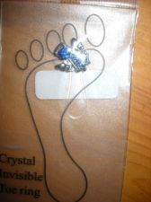 Buy Toe Ring Blue Crystal Winged Angel invisible clear band