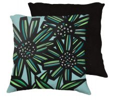 Buy Derosso 18x18 Blue Yellow Green Black Pillow Flowers Floral Botanical Cover Cushion C