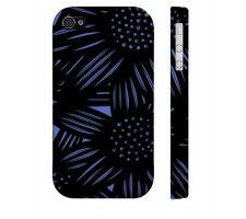 Buy Brockie Blue Black Iphone 4/4S Apple Phone Case Flowers Botanical