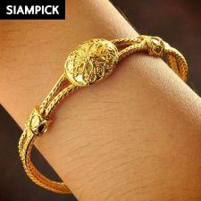 Buy 22k 24k Thai Baht Yellow Gold Plated Pendant Chain Bangle Bracelet Jewelry B091