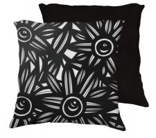 Buy Javers 18x18 Black White Pillow Flowers Floral Botanical Cover Cushion Case Throw Pil