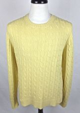 Buy J Crew Sweater L Mens Yellow Wool Long Sleeve