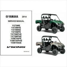 Buy 2014 Yamaha Viking FI 4x4 EPS UTV / ATV Service Repair Manual CD