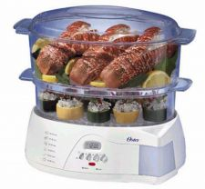 Buy NEW Oster Food Steamer 2 Tier Electronic 6.1 Quart Vegetable Rice Cooker